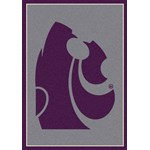 "Milliken College Team Spirit (NCAA) Kansas State 74236 Spirit Rectangle (4000019217) 5'4"" x 7'8"" Area Rug"