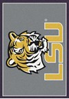 Milliken College Team Spirit (NCAA) LSU 45280 Spirit Rectangle (4000019404) 2'8