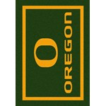 "Milliken College Team Spirit (NCAA) Oregon 45816 Spirit Rectangle (4000019060) 3'10"" x 5'4"" Area Rug"