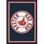 "Milliken MLB Team Spirit (MLB-S) Boston Red Sox 01018 Spirit Rectangle (4000050011) 3'10"" x 5'4"" Area Rug"