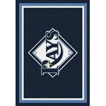 "Milliken MLB Team Spirit (MLB-S) Tampa Bay Rays 01028 Spirit Rectangle (4000050021) 3'10"" x 5'4"" Area Rug"