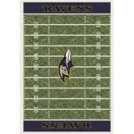 "Milliken NFL Team Home Field (NFL-F) Baltimore Ravens 01009 Home Field Rectangle (4000019787) 3'10"" x 5'4"" Area Rug"
