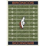 "Milliken NFL Team Home Field (NFL-F) Denver Broncos 01030 Home Field Rectangle (4000019826) 5'4"" x 7'8"" Area Rug"