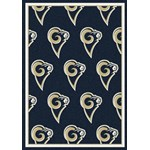 "Milliken NFL Team Repeat (NFL-R) St. Louis Rams 09086 Repeat Rectangle (4000096043) 10'9"" x 13'2"" Area Rug"