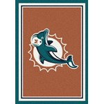 "Milliken NFL Team Spirit (NFL-S) Miami Dolphins 00950 Spirit Rectangle (4000095645) 7'8"" x 10'9"" Area Rug"