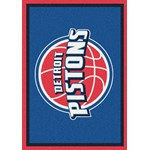 "Milliken NBA Team Spirit (NBA-S) Detroit Pistons 01008 Spirit Rectangle (4000052546) 5'4"" x 7'8"" Area Rug"