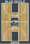 Milliken College Home Court (NCAA) Duke 01512 Court Rectangle (4000018444) 5'4