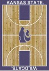 Milliken College Home Court (NCAA) Kansas State 01125 Court Rectangle (4000018300) 3'10