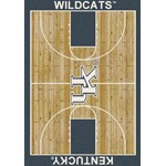 "Milliken College Home Court (NCAA) Kentucky 01140 Court Rectangle (4000018301) 3'10"" x 5'4"" Area Rug"