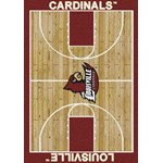 "Milliken College Home Court (NCAA) Louisville 01150 Court Rectangle (4000018472) 7'8"" x 10'9"" Area Rug"