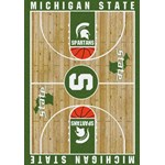 "Milliken College Home Court (NCAA) Michigan State 01180 Court Rectangle (4000018310) 3'10"" x 5'4"" Area Rug"
