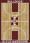 Milliken College Home Court (NCAA) Mississippi State 01188 Court Rectangle (4000018313) 3'10