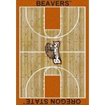 "Milliken College Home Court (NCAA) Oregon State 01294 Court Rectangle (4000018409) 5'4"" x 7'8"" Area Rug"
