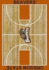 Milliken College Home Court (NCAA) Oregon State 01294 Court Rectangle (4000018494) 7'8