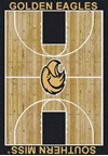 Milliken College Home Court (NCAA) Southern Mississippi 01392 Court Rectangle (4000018336) 3'10
