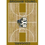 "Milliken College Home Court (NCAA-CRT) Brigham Young 01048 Court Rectangle (4000096083) 10'9"" x 13'2"" Area Rug"