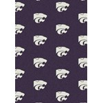 "Milliken College Repeating (NCAA) Kansas State 01125 Repeat Rectangle (4000018916) 7'8"" x 10'9"" Area Rug"