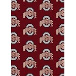 "Milliken College Repeating (NCAA) Ohio State 01000 Repeat Rectangle (4000018820) 5'4"" x 7'8"" Area Rug"
