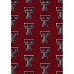 "Milliken College Repeating (NCAA) Texas Tech 01440 Repeat Rectangle (4000018878) 5'4"" x 7'8"" Area Rug"