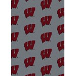 "Milliken College Repeating (NCAA) Wisconsin 01490 Repeat Rectangle (4000019030) 10'9"" x 13'2"" Area Rug"