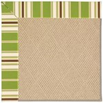 Capel Rugs Creative Concepts Cane Wicker - Tux Stripe Green (214) Octagon 4' x 4' Area Rug