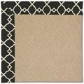 Capel Rugs Creative Concepts Cane Wicker - Arden Black (346) Octagon 4