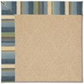 Capel Rugs Creative Concepts Cane Wicker - Kalani Ocean (417) Octagon 4