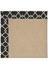 Capel Rugs Creative Concepts Cane Wicker - Arden Black (346) Octagon 6' x 6' Area Rug