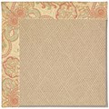 Capel Rugs Creative Concepts Cane Wicker - Paddock Shawl Persimmon (810) Octagon 6