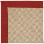 Capel Rugs Creative Concepts Cane Wicker - Canvas Cherry (537) Octagon 8' x 8' Area Rug
