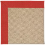 Capel Rugs Creative Concepts Cane Wicker - Dupione Crimson (575) Octagon 8' x 8' Area Rug