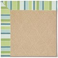 Capel Rugs Creative Concepts Cane Wicker - Capri Stripe Breeze (430) Octagon 10