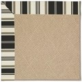 Capel Rugs Creative Concepts Cane Wicker - Down The Lane Ebony (370) Octagon 12