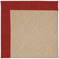 Capel Rugs Creative Concepts Cane Wicker - Canvas Cherry (537) Octagon 12