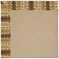 Capel Rugs Creative Concepts Cane Wicker - Java Journey Chestnut (750) Octagon 12