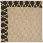 "Capel Rugs Creative Concepts Cane Wicker - Bamboo Coal (356) Runner 2' 6"" x 8' Area Rug"