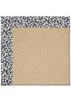 Capel Rugs Creative Concepts Cane Wicker - Coral Cascade Navy (450) Rectangle 4' x 4' Area Rug