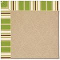 Capel Rugs Creative Concepts Cane Wicker - Tux Stripe Green (214) Rectangle 4