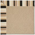 Capel Rugs Creative Concepts Cane Wicker - Granite Stripe (335) Rectangle 4