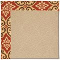 Capel Rugs Creative Concepts Cane Wicker - Shoreham Brick (800) Rectangle 6