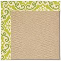 Capel Rugs Creative Concepts Cane Wicker - Shoreham Kiwi (220) Rectangle 8
