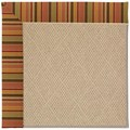 Capel Rugs Creative Concepts Cane Wicker - Tuscan Stripe Adobe (825) Rectangle 8