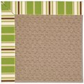 Capel Rugs Creative Concepts Grassy Mountain - Tux Stripe Green (214) Rectangle 5