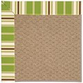 Capel Rugs Creative Concepts Raffia - Tux Stripe Green (214) Octagon 6