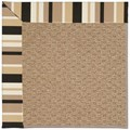 Capel Rugs Creative Concepts Raffia - Granite Stripe (335) Octagon 8