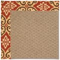 Capel Rugs Creative Concepts Raffia - Shoreham Brick (800) Octagon 8