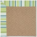 Capel Rugs Creative Concepts Raffia - Capri Stripe Breeze (430) Octagon 10