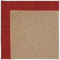 Capel Rugs Creative Concepts Raffia - Canvas Cherry (537) Octagon 12