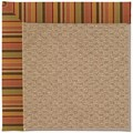 Capel Rugs Creative Concepts Raffia - Tuscan Stripe Adobe (825) Rectangle 8