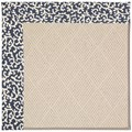 Capel Rugs Creative Concepts White Wicker - Coral Cascade Navy (450) Octagon 4